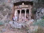 Have a lovely meal at Kings Garden in Fethiye and see the Tombs
