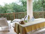 Magnificant private balcony of 'Azara' villa-perfect for those lazy summer BBQ's!