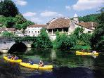 Book a canoe for a half or full day trip-great fun for all the family!