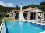 The villa and pool are set in beautiful Skiathos countryside