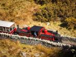 Narrow gauge railway from Porthmadog (7.5 miles) to Ffestiniog