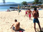 Beach tennis at Kalogria