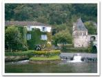 Nearby town of Brantome