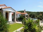 The main entrance to Skiathos Island Villa