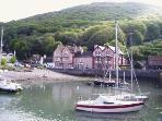 Porlock Weir is nearby. There is a nice 4 mile circular walk by the sea and woods