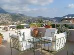 Views of Kalkan Bay from the roof terrace