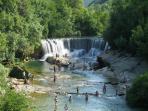 St Lauren De Minier Waterfall.