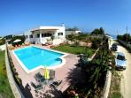 Casa Mare, spacious villa, private heated pool and close to the beach - literally a few steps away.