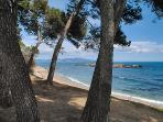 the nearest beach of Empúries, only 35 min. by car. A peaceful beach.