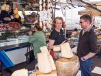 Shop in the local markets for fresh produce, speciality meats and cheeses