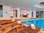 Indoor pool area (Heated pool with Jacuzzi)