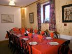 Dinning room seats 14 /16 very cosy , table linen available for special occasions.