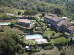 Stunning, large villa on the outskirts of Lucca, Tuscany, staffed property features private pool and gardens, jacuzzi and terraces