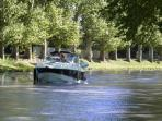Boating on the popular Canal du Midi