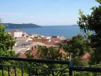 View from bedroom and terrace to Forte Mare