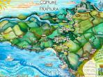 Map of thr territory of Framura (betwwwn Cinque Terre and Portofino)