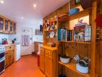 Everything you could ask for, all modern equipment, dishwasher, cookery books, warm and cheerful.
