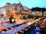 Cours Saleya famous market in Nice Old Town