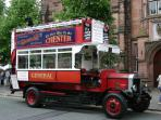 The Heritage Bus, the only one of its kind in the UK