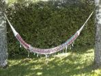 Hammock in the shade of the back garden