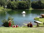 A few minutes drive to Lake Beunaz complete with zip wire - great for family fun