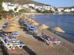 Bodrum Beach just 5 minutes walk away
