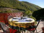 Pietramelina's private outdoor terrace