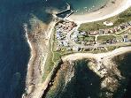 Beadnell Beach aerial view