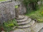 Old worldly garden feature