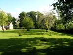Garden ,3/4 acre of lawn and orchard great for outdoor games and a play area for the children.