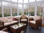 Stylish Rattan furniture in the conservatory