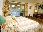 The bedroom features wonderful panoramic views of the Loch
