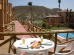 Lunch on the private patio with two of the 5 available pools