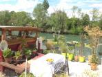 Notre nouveau emplacement avec la vue sur la Marne.