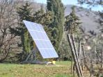 La Fonte is a zero emission farm, we produce our electricity and hot water.
