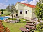 Villa Sole Istria, Marcana, Croatia, with pool in front of the terrace