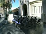 Valenbisi bike hire weekly 10€. Station 25 - 180m Over 205 stations within city.