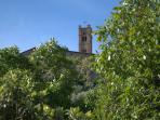 La torre campanaria vista dal 'Noce'