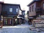 A typical quaint street in Nesebar