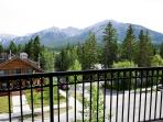 Balcony with views of the Rockies