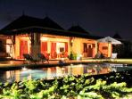 Beautiful Frontal View of the house at Night