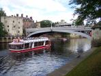 River cruise/walk. So much to see and do in York, all within easy walking distance to apartment.