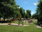 Park with play area, paddling pool, mini golf, pedalos, kayaking, tennis courts, BBQ's, cycle hire.