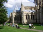 Picnic by the Minster, fabulous area, very peaceful lovely green area.