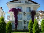 Duplex Apartment showing Bougainvillea in full bloom