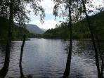 The Lochan, Glencoe.  5 minutes drive from the cottage