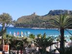 Beach of Poetto 'Sella del Diavolo'