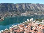 Location of apartment complex in Kotor bay