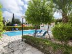 Whether it's shade or full on sun you require the garden pool area has both.