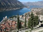 Kotor view from the old town walls (you can walk up!)